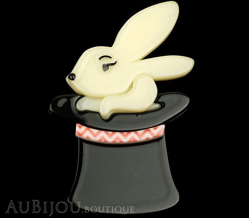 Erstwilder Brooch Pin Trixie Bunny Honey Rabbit Magician Hat Trick Magician Hat Bunny Trixie