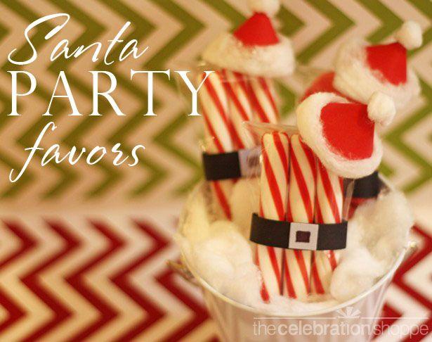 diy santa party favors pinterest favors santa and holidays