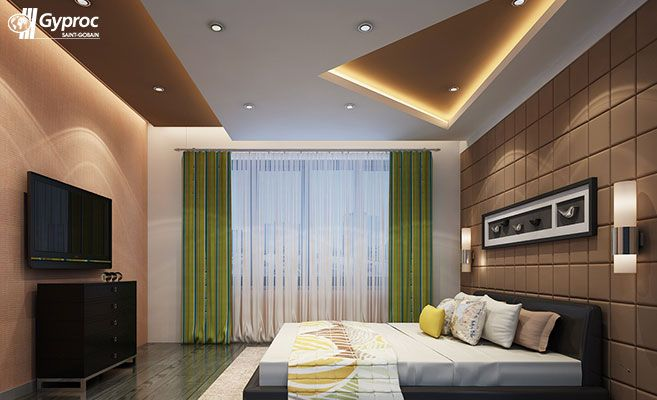 Master Bedroom Ceiling Designs False Ceiling  Drywall  Saintgobain Gyproc India  Ceilings