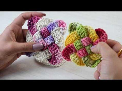 Crochetando com EuroRoma e Sandra Brum - Quadradinho Trançado - YouTube