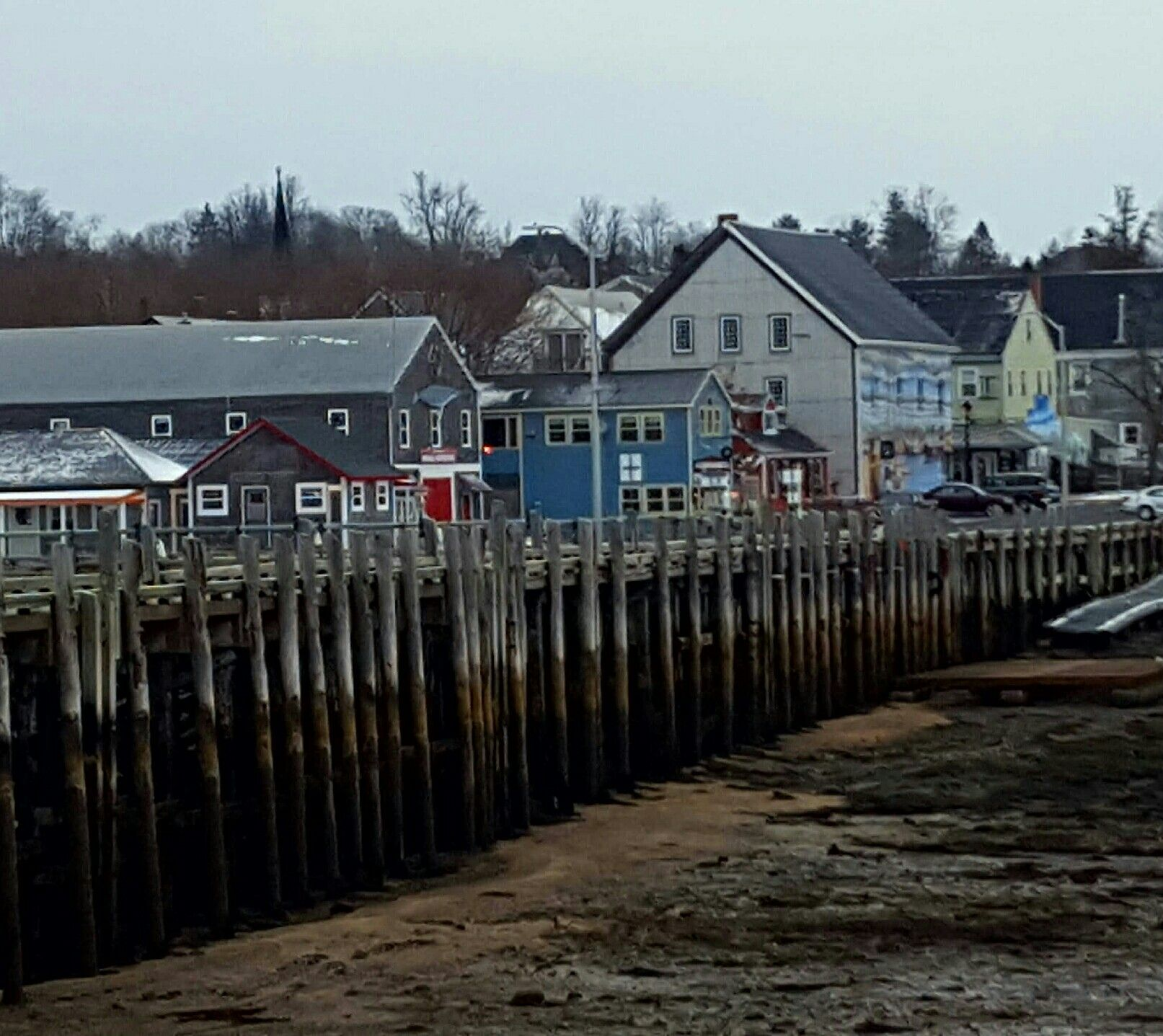 The wharf at low tide. St Andrews NB 5