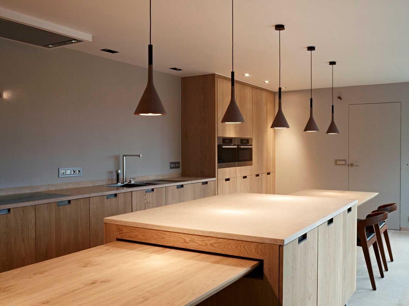 Keuken Interieur Scandinavisch : Eiken keuken tijdloos met eiland donal louis house in