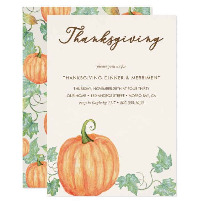 Thanksgiving Dinner Pumpkin Patch Autumn Leaves Invitation | Zazzle.com #autumnleavesfalling