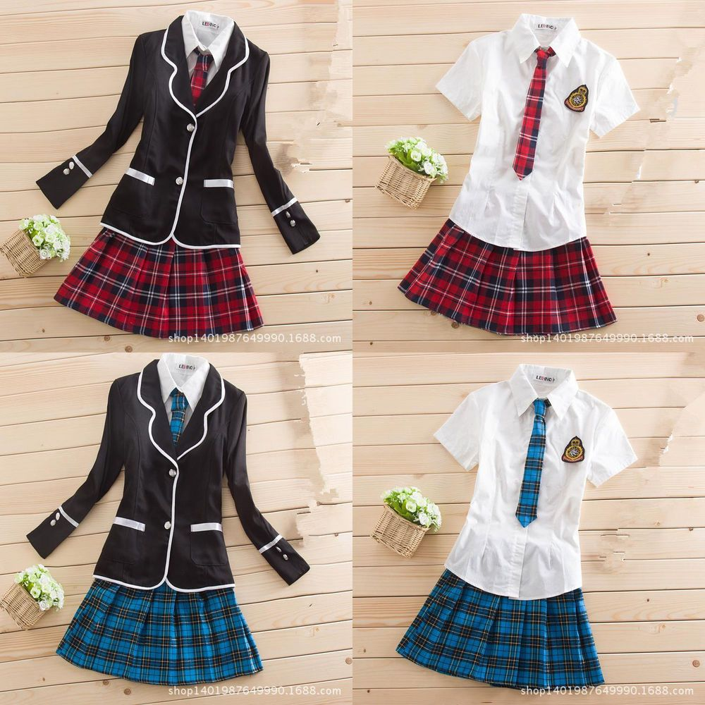 New Japanese School Girl Cute Sailor Uniform Dress Full Set Cosplay Costume In 2019  Steven Univers And Other Things I Like  Tenue Kawaii, S -1623