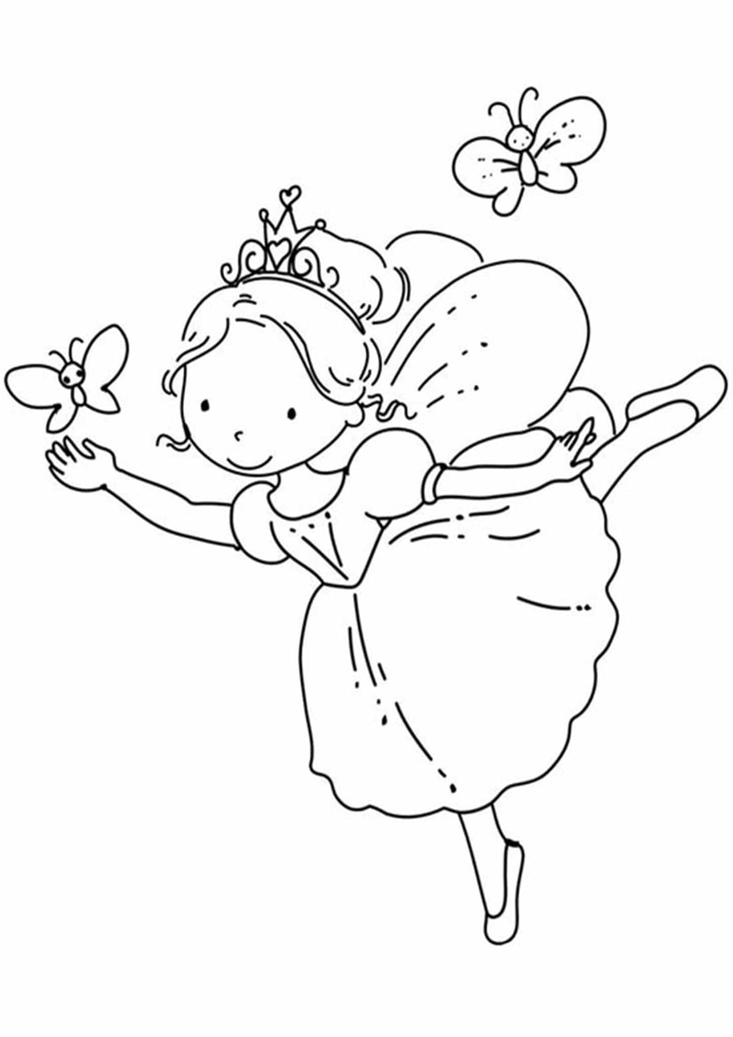 Free Easy To Print Fairy Coloring Pages Fairy Coloring Pages Fairy Coloring Ballerina Coloring Pages