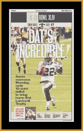 aebff990 Amazon.com: New Orleans Saints - Super Bowl 44 XLIV - Incredible ...