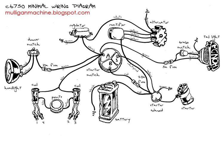 cb750 minimal wiring diagram  schematic wiring diagram