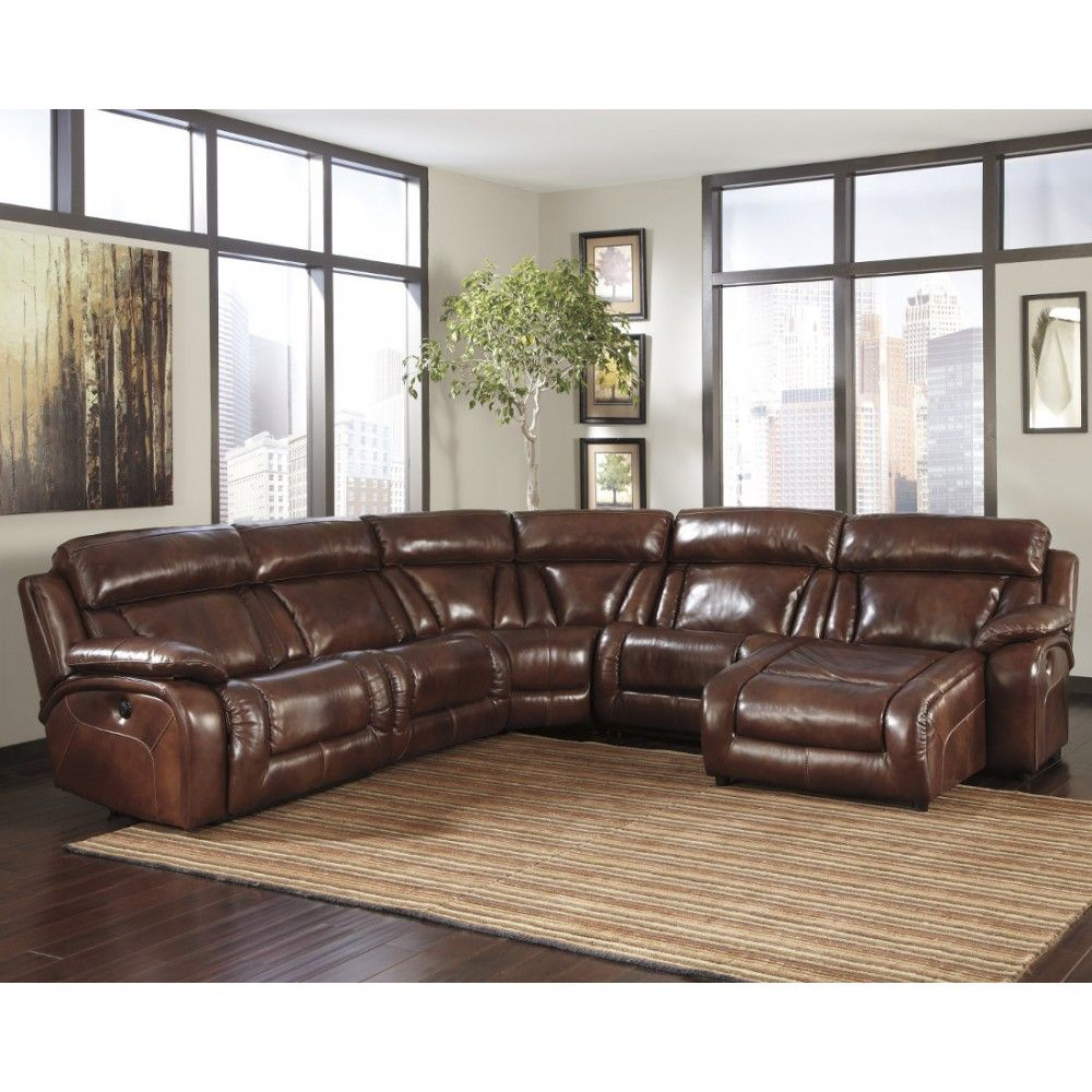 Ashley Furniture Elemen Harness Power Reclining Sectional In Harness