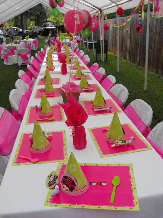 Birthday Party Setup | This is how I set up the kids table, lots of ...