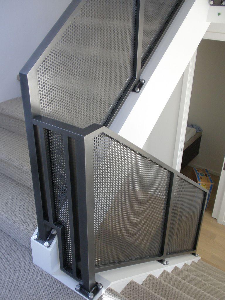 Mesh Aluminum Interior Railing Stair railing design