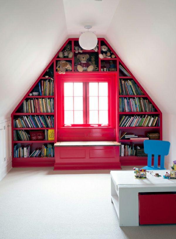 bücherregale bauen hausbibliothek dachgeschoss dachschräge Ideen - dachgeschoss ausbauen tolle idee wie sie den platz nutzen konnen