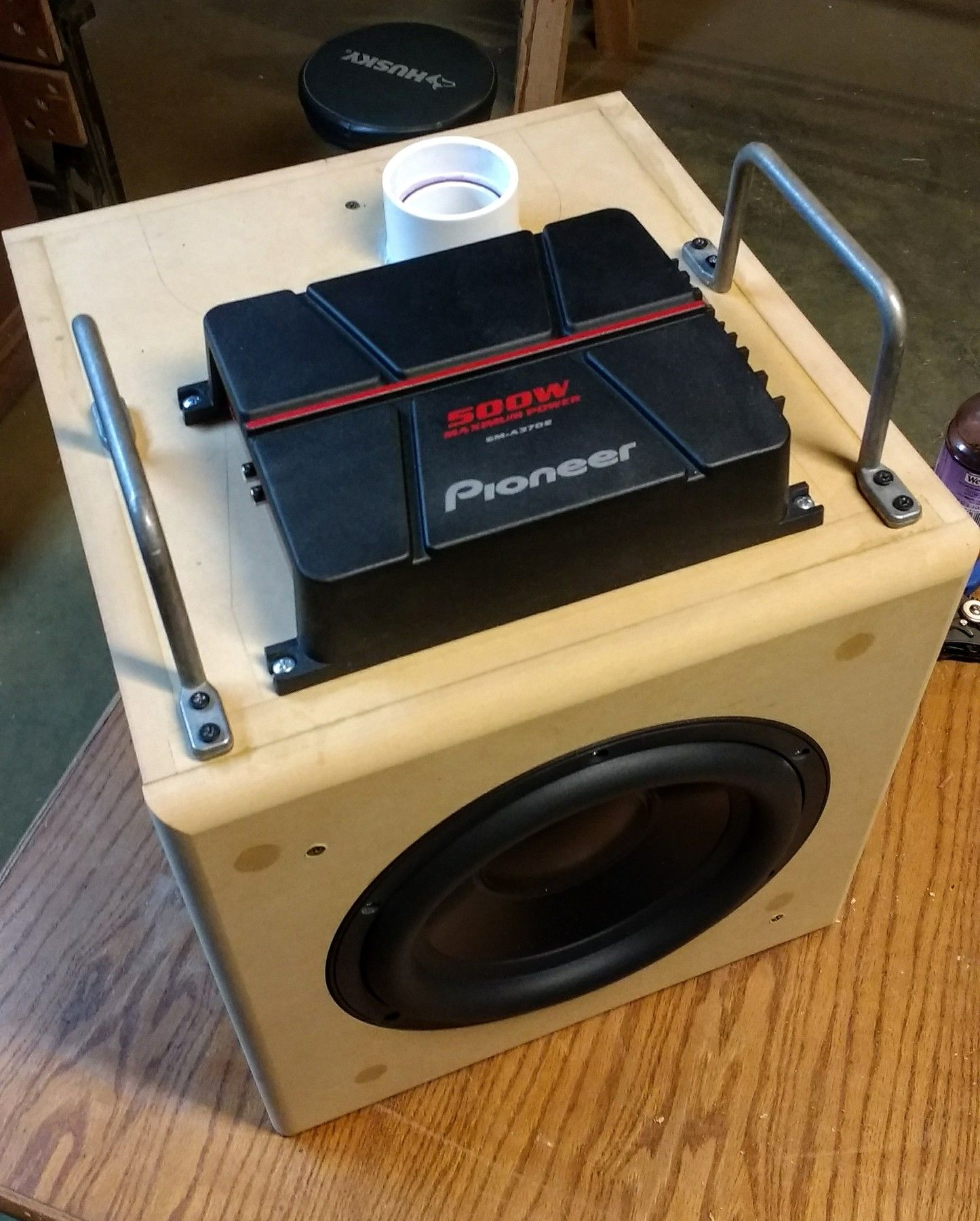 Subwoofer Kit Modified With 2 Pvc Reflex Port Powered By Pioneer Amp Kits Channel Audio Amplifier Circuit Board For Diy Gma3702 Car