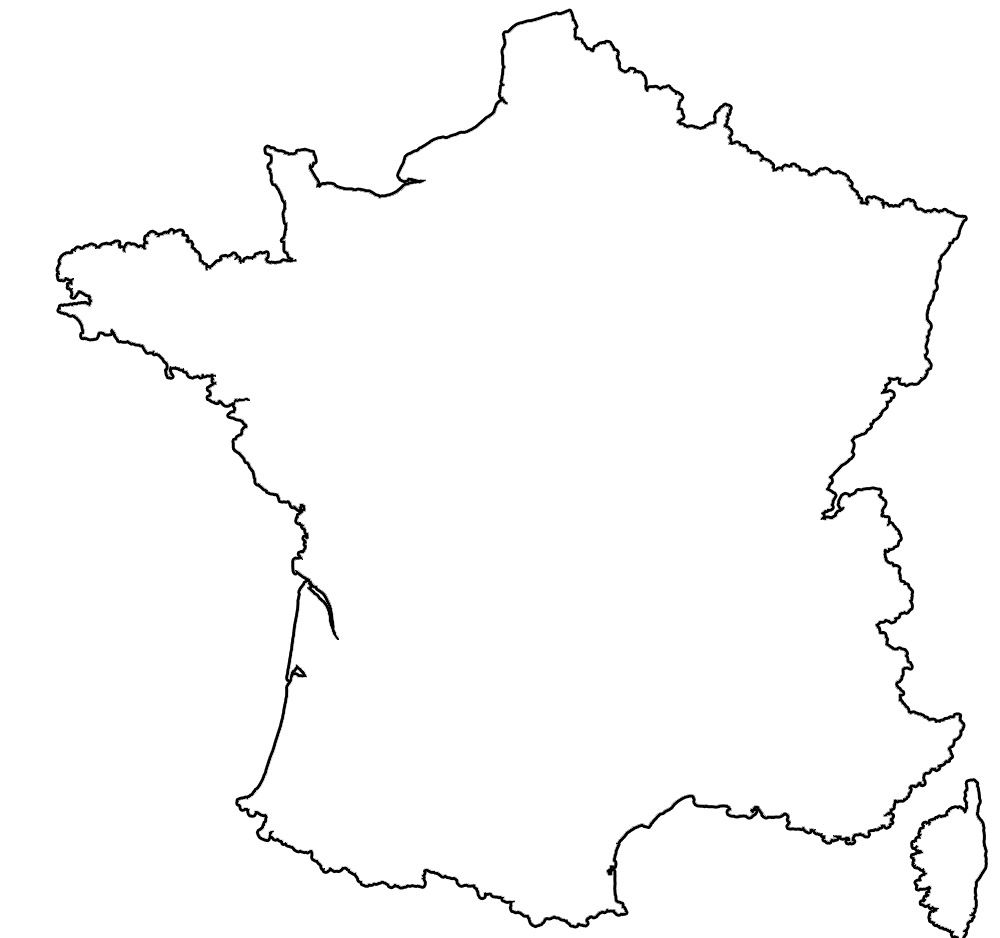 Contour Map Of France Tattoos France Map France Tattoo Map Outline