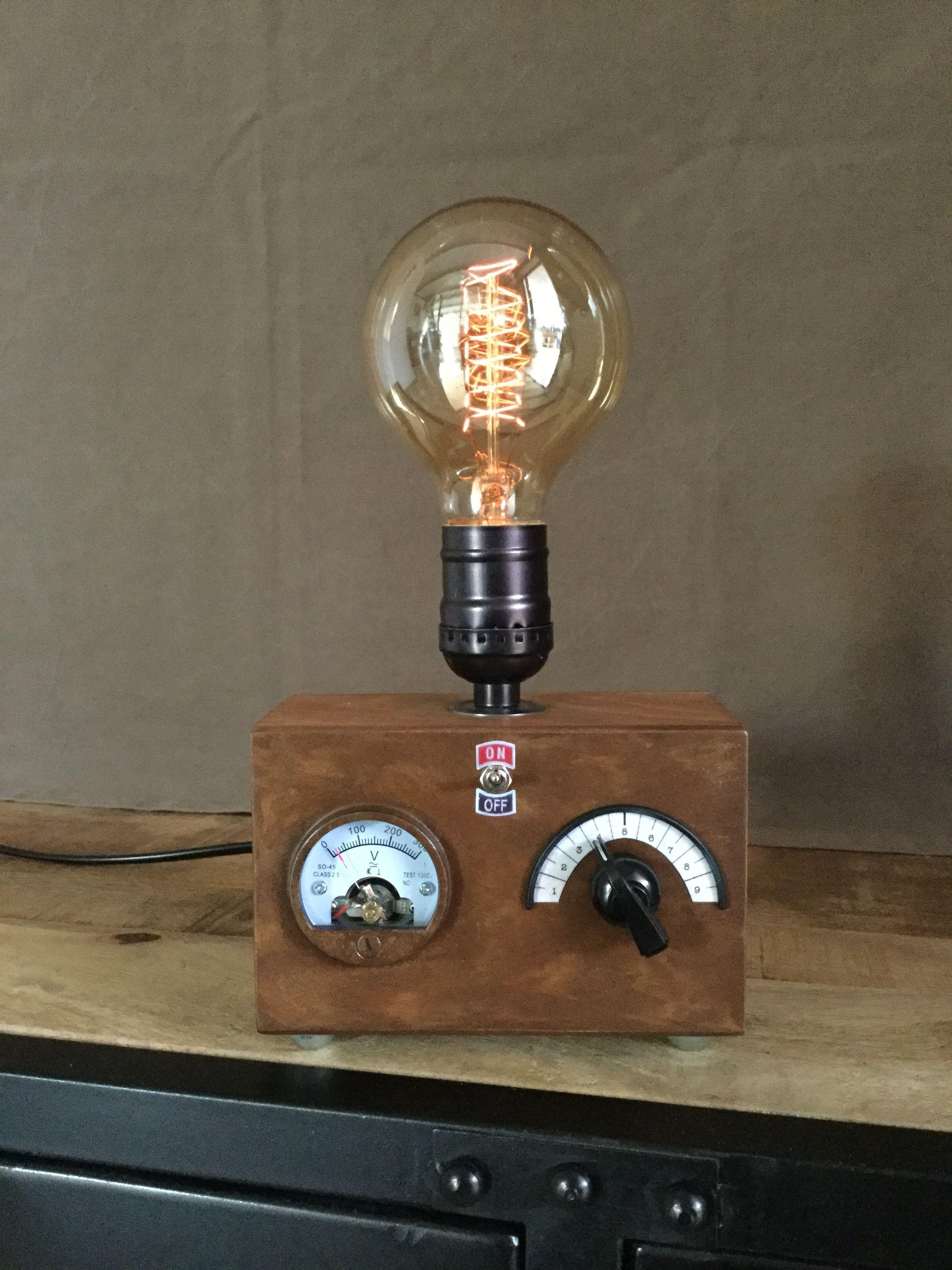 Fabriquer Une Lampe Style Industriel lampes steampunk edison | lampe steampunk, Éclairage rétro