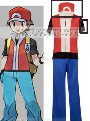 1f2161ea #Custom the hat and white/red vest Pokemon Trainer Red Cosplay, Other  Cosplay Costumes, Cosplay Costumes