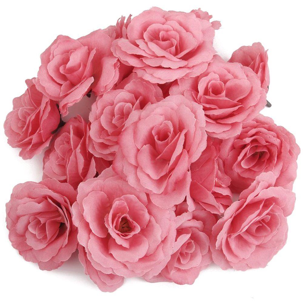 20pcs Artificial Rose Flower Head Corolla DIY Wedding