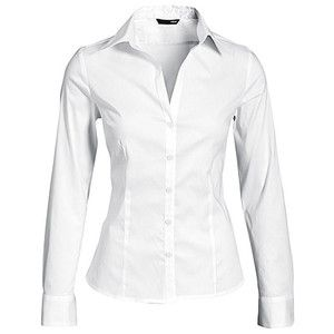 H&M White Long-Sleeve Button-up Blouse | Moda | Pinterest | Crisp ...