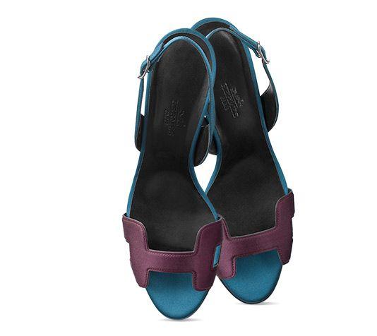 6ecc5cb8362c Night 70 Hermes ladies  sandal in satin