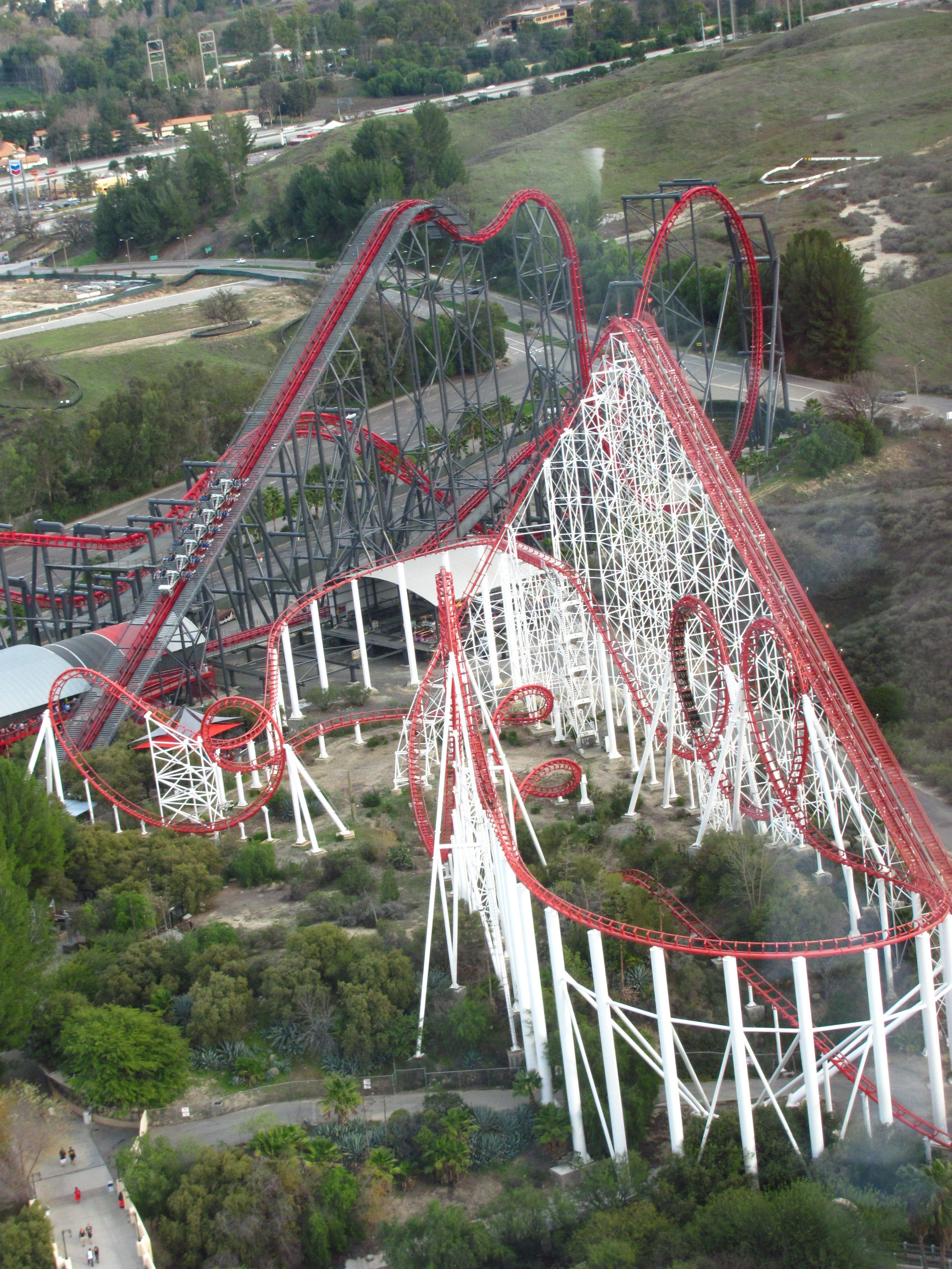 X2 And Viper At Six Flags Magic Mountain Theme Parks Rides Roller Coaster Amusement Park