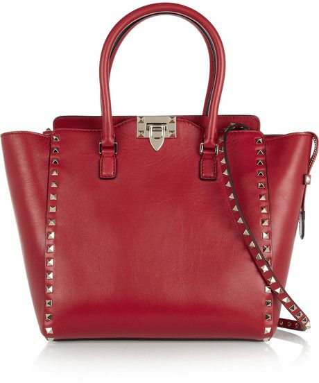 The Rockstud Medium Leather Trapeze Bag - Lyst
