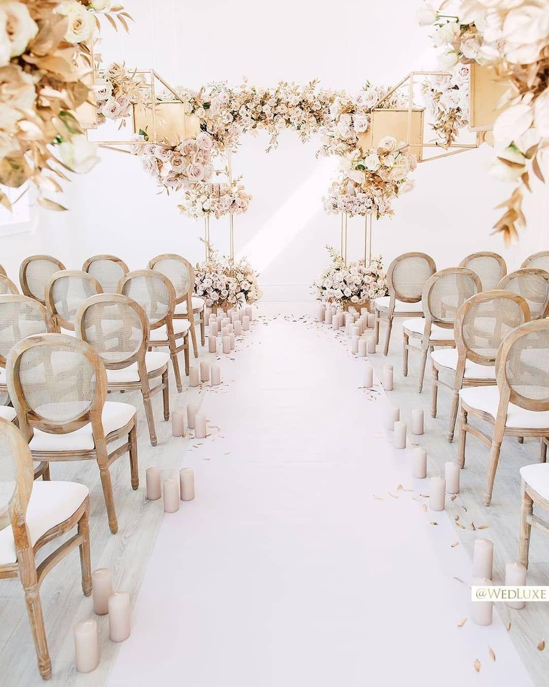 "Beautiful Indoor Wedding Ceremony: Wedding Dream On Instagram: ""Major Love With This"