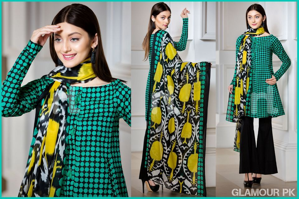 b835e440044 Nishat Linen Spring Summer Unstitched Collection 2018 With Price 41800094- Lawn Green Printed 3PC PRICE  PKR 2