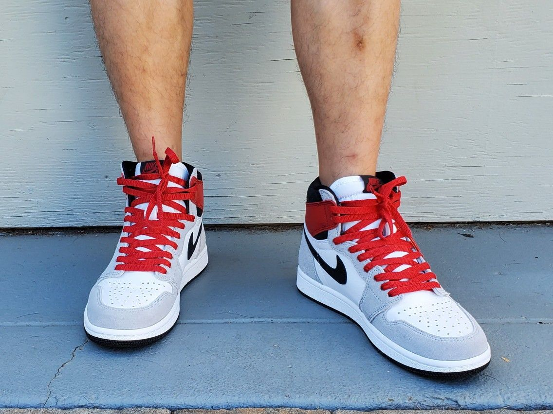 Air Jordan 1 Smoke Grey 2.0 With Red