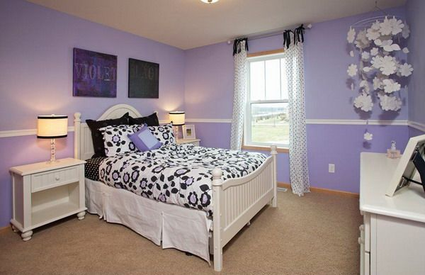 Purple Bedroom Ideas Featuring White Bedroom Furniture - http://backgroundwallpaperpics.com/purple-bedroom-ideas-featuring-white-bedroom-furniture/