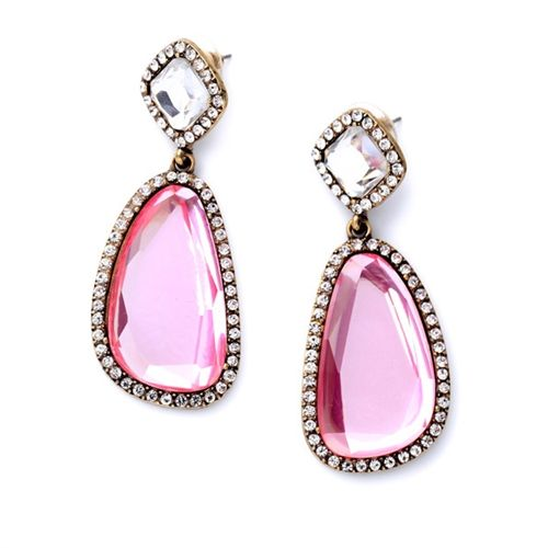 Matira Pink Drops Gl Crystal Statement Earrings By Shamelessly Sparkly