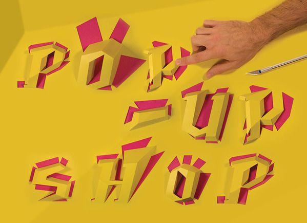 Pop Up Shop Announcement by Will Miller, via Behance