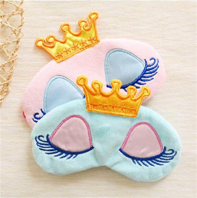 Princess Crown Eyes Cover Travel Sleeping Blindfold Shade