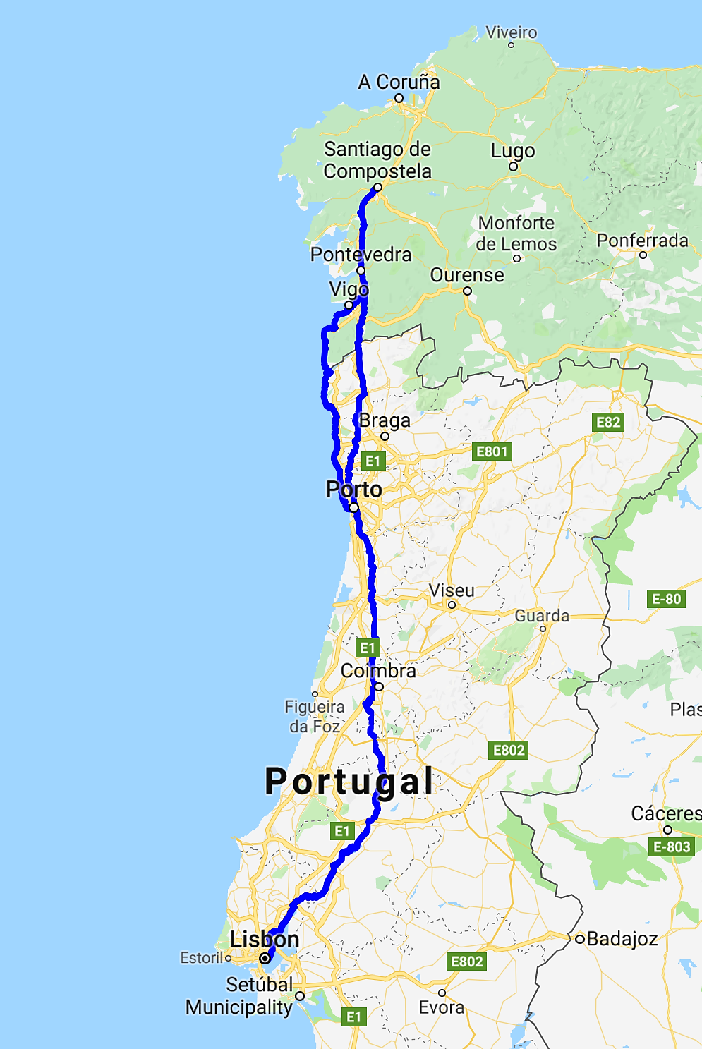 The Many Ways On The Camino Portugues The Camino Santiago De Compostela Santiago De Compostela Spain