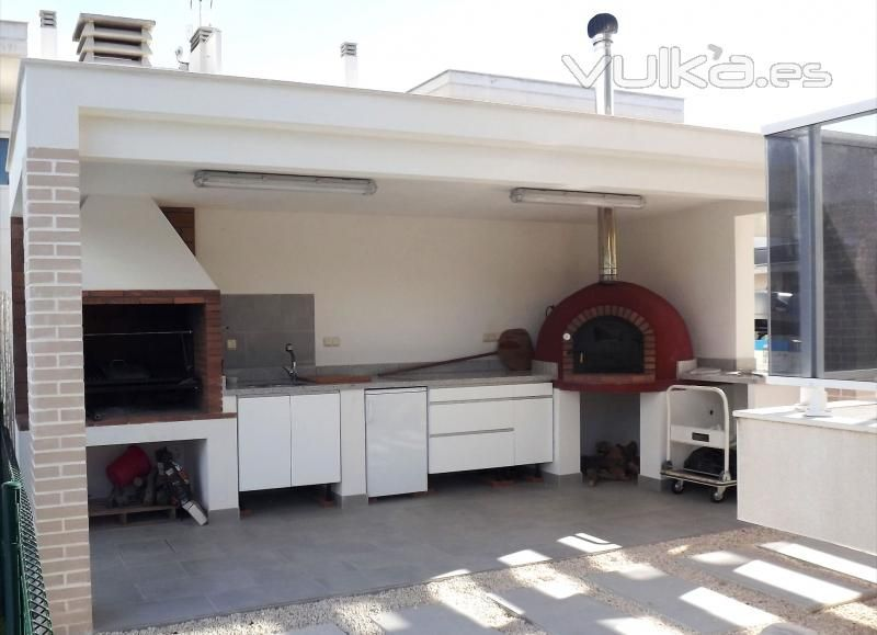 Modern Spanish Outdoor Kitchen Barbecue By Masva Outdoor Kitchen Outdoor Living Kitchen Small Outdoor Kitchens