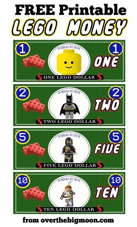 lego money | Free printable, Lego and Legoland