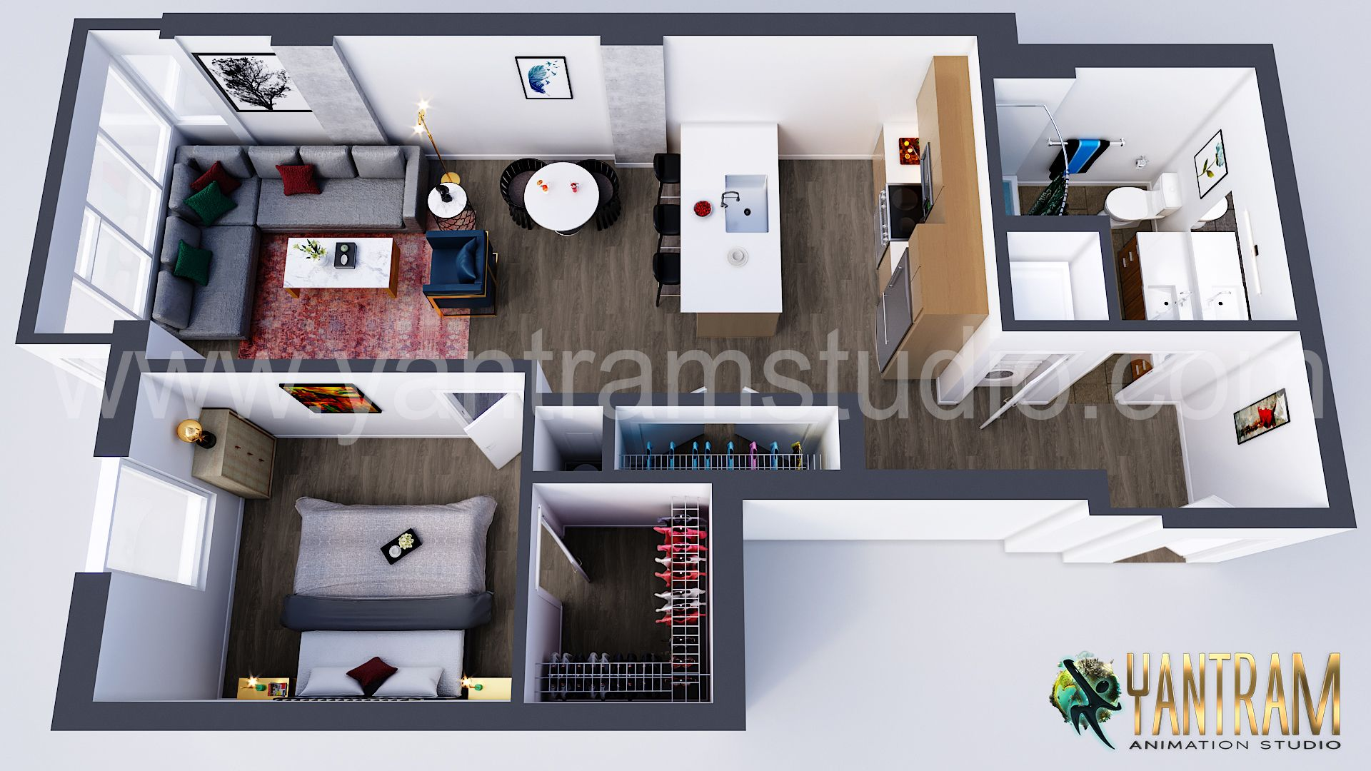 Residential 3d Virtual Floor Plan Design Ideas By Architectural Animation Studio Architectural Design Studio Floor Plan Design Floor Design