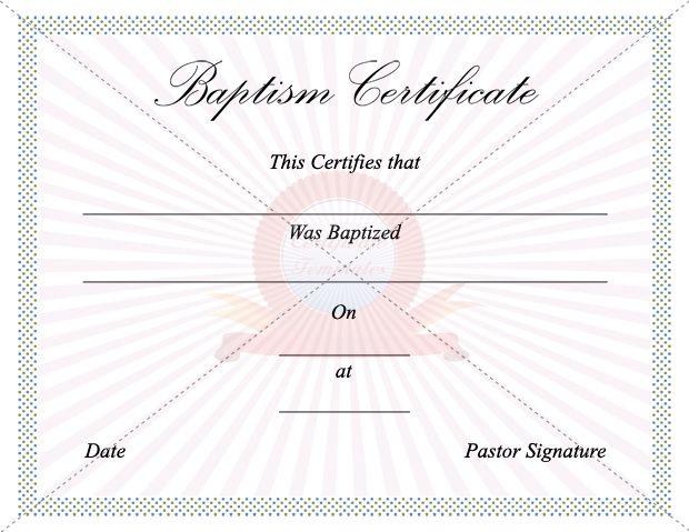 Baptism Certificate BAPTISM CERTIFICATE TEMPLATES Pinterest - baptism certificate