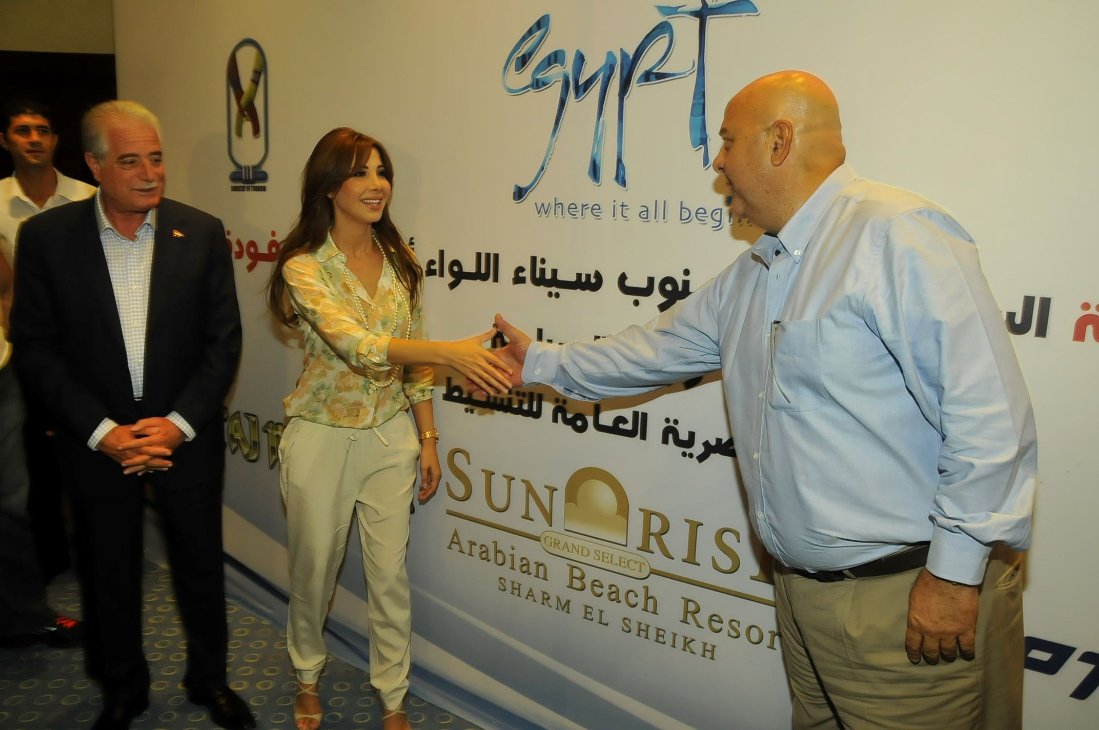 Press Conference With Nancy Ajram At The Sunrise Grand Select Arabian Beach Resort Beach Resorts Beach Nancy Ajram
