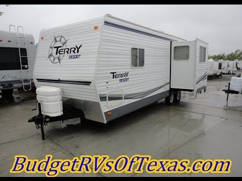 2006 Terry Resort 240rks A Fun And Exciting Rear Kitchen Floor Plan In Thanks To The Rear Kitchen And Travel Trailer 5th Wheel Travel Trailers Rv Vacation