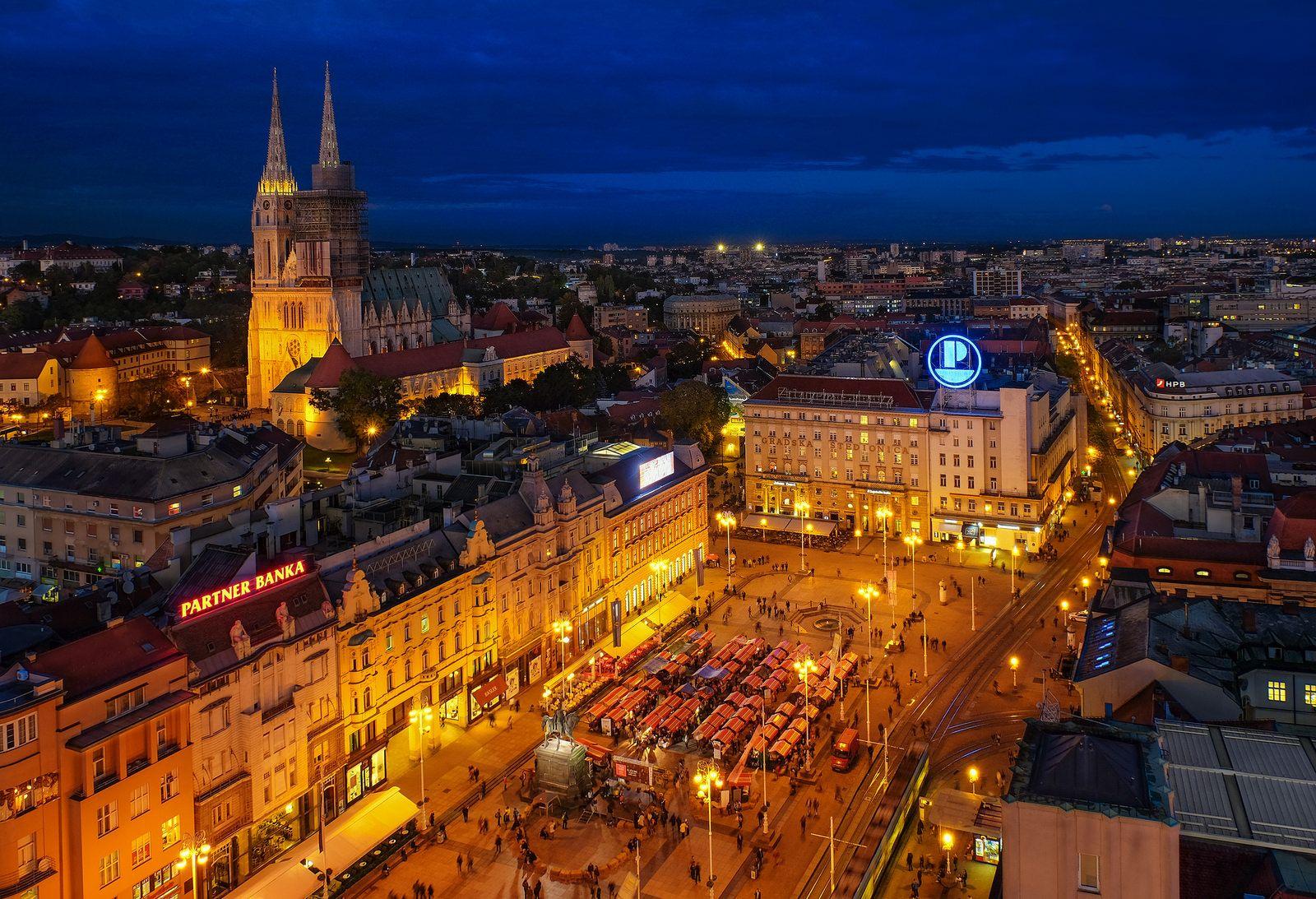 Zagreb Blur Hour Zagreb Croatia Zagreb Croatia
