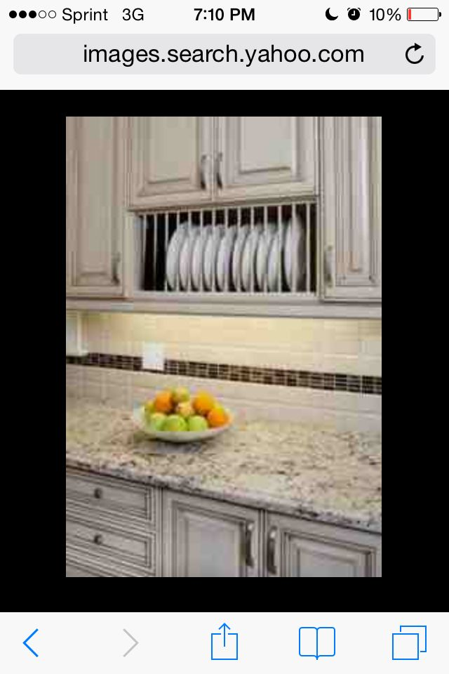 White Kitchen And Plate Rack