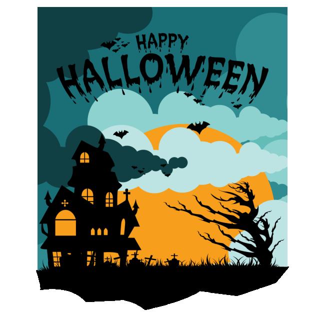 Halloween Party Vector Background Illustration Moon Night Holiday Pumpkin Horror Scary Invitation Celebr Halloween Poster Happy Halloween Halloween