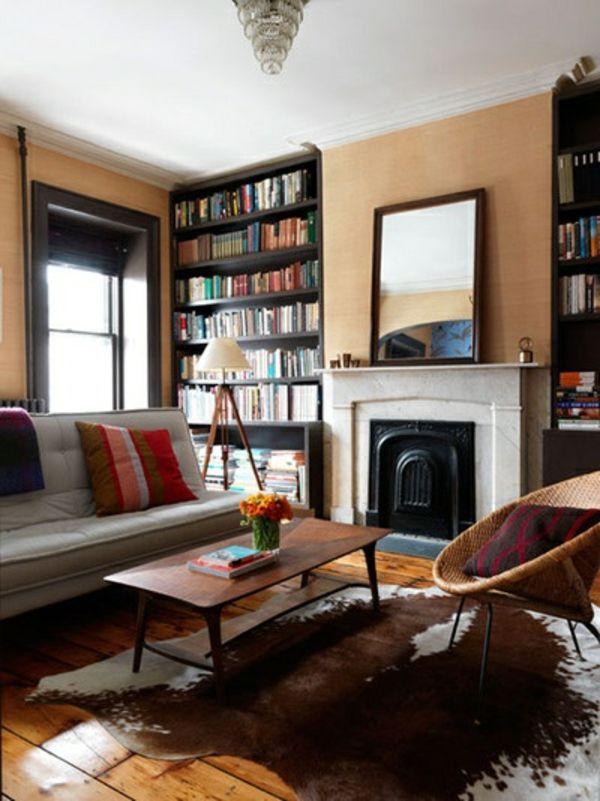 Kuhfell Teppich - Ein frischer Interieur Akzent - Kuhfell Teppich Wohnzimmer