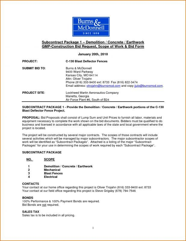 Construction Scope Of Work Editable Lesson Plan Template