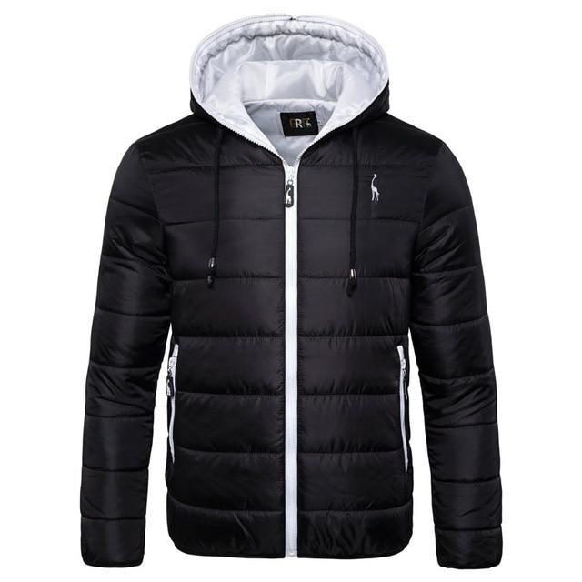 Veste d'hiver imperméable pour hommes Sweats à capuche – Noir-Orange / Taille US XXL 90-100kg / Fédération de Russie   – Products