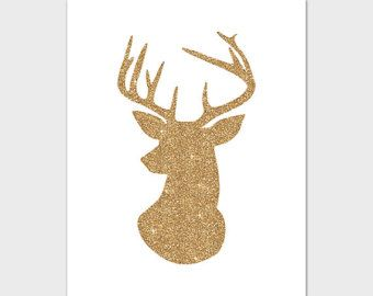 gold antler wallpaper - photo #8