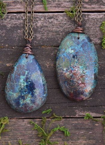 Photo of Azurite Necklaces For Sale