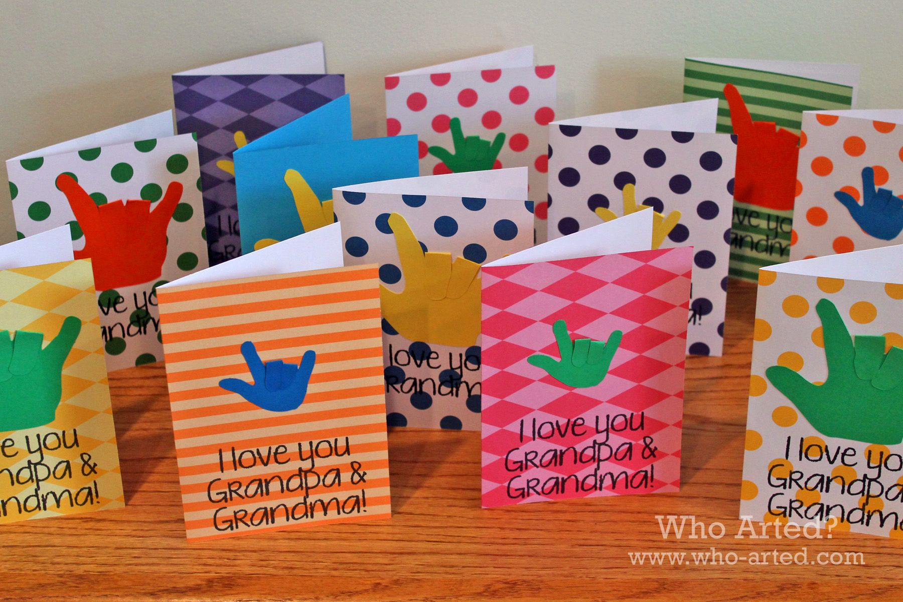Marvelous Card Making Ideas For Grandparents Day Part - 11: Grandparents Day Sign Language Cards