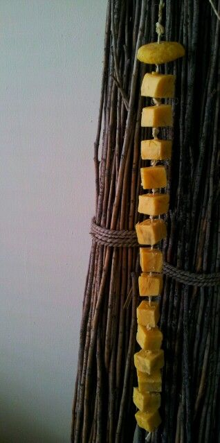 Pure and simple..15 guestssoaps on a rope..coconut tangerine almond oil