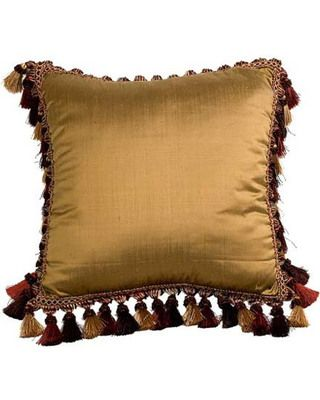 Canaan Company Silk-Suede Square Pillow
