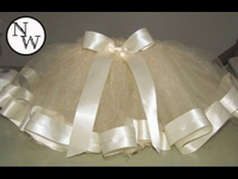 68677c11f9 DIY Tulle Skirt with Satin Trim!